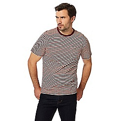 Hammond & Co. by Patrick Grant - Big and tall dark red striped pocket t-shirt