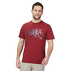 Hammond & Co. by Patrick Grant - Big and tall red bike print t-shirt