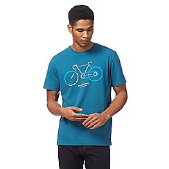 Hammond & Co. by Patrick Grant - Big and tall turquoise bike print t-shirt