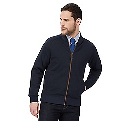 Hammond & Co. by Patrick Grant - Big and tall navy zip-up baseball jersey