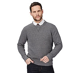 Hammond & Co. by Patrick Grant - Grey textured crew neck sweater