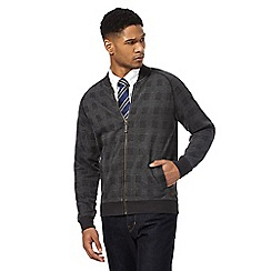 Hammond & Co. by Patrick Grant - Big and tall grey prince of wales checked bomber jacket