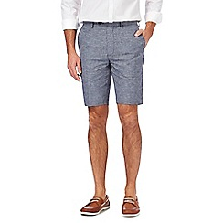 Hammond & Co. by Patrick Grant - Big and tall grey linen blend checked shorts