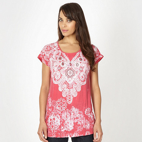 The Collection - Rose lace printed peplum top