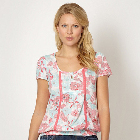 The Collection - Rose sketched floral top
