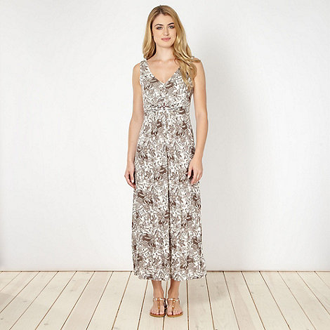 The Collection - Beige floral jersey maxi dress