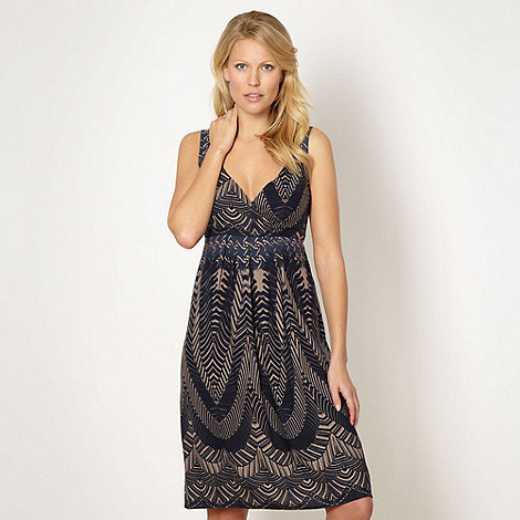 The Collection - Navy batik printed day dress