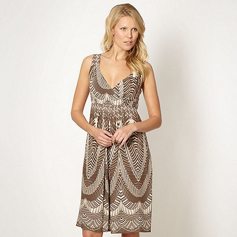 The Collection - Taupe batik printed summer dress