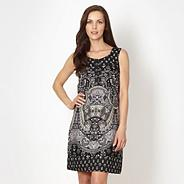 Black paisley printed summer dress