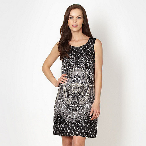 The Collection - Black paisley printed summer dress