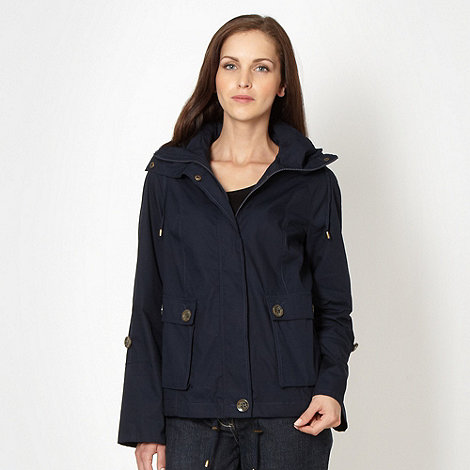 The Collection - Navy short mac jacket