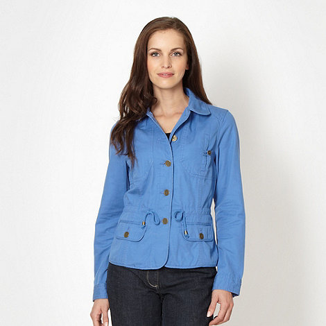 The Collection - Blue lightweight cotton jacket