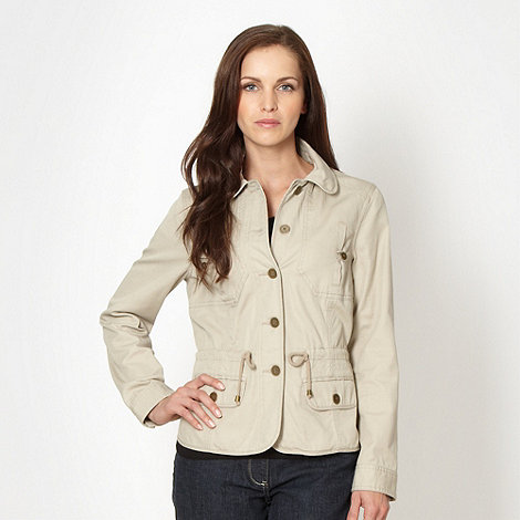 The Collection - Beige lightweight cotton jacket