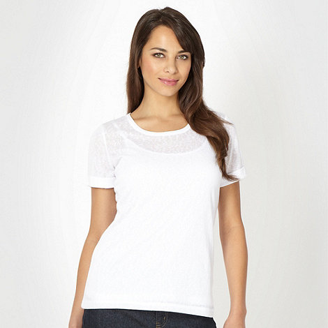 The Collection - White burnout textured t-shirt
