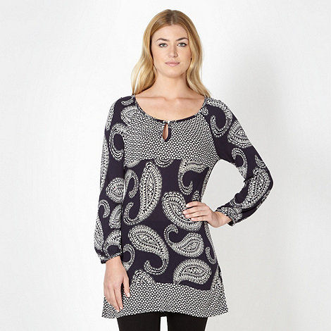 The Collection - Navy paisley tunic