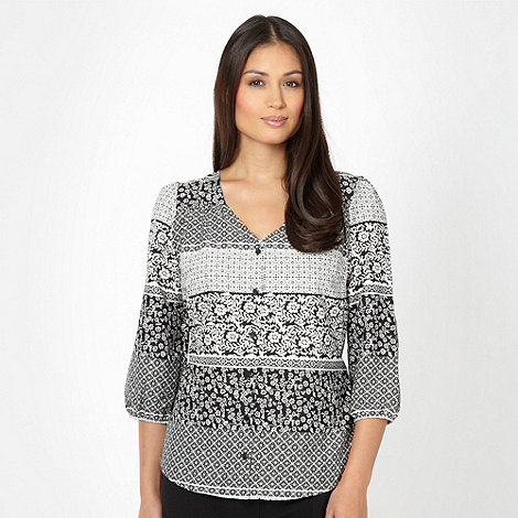 The Collection - Black tile printed blouse