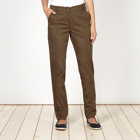 The Collection - Khaki utility pocket trousers