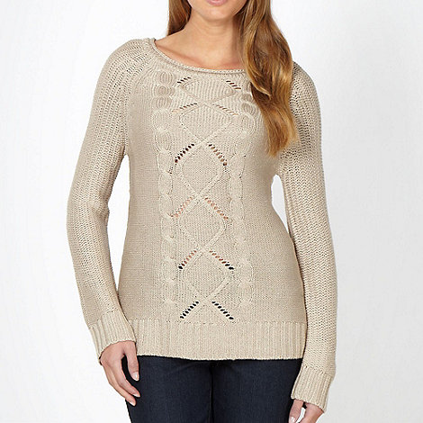 The Collection - Beige chunky cable knit jumper