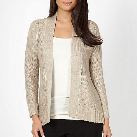 The Collection - Beige diamond cable knit cardigan