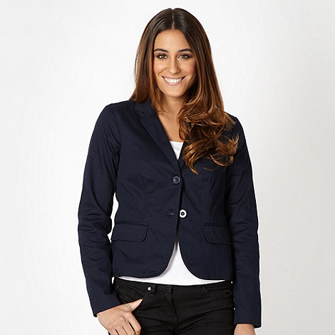 The Collection - Navy textured blazer
