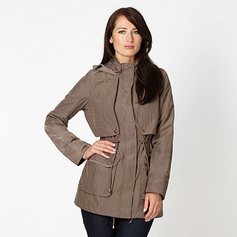 The Collection - Beige lightweight parka coat