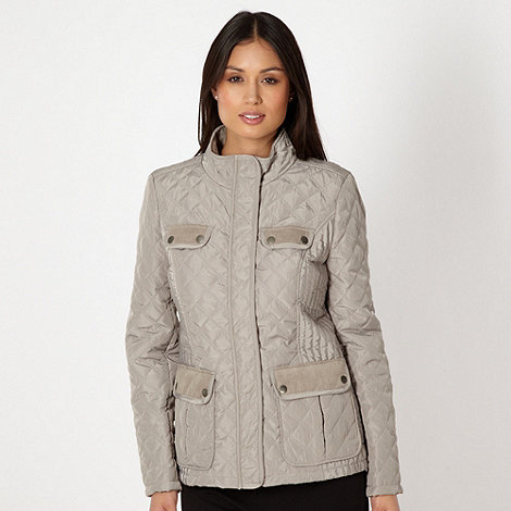 The Collection - Beige quilted cord trim jacket