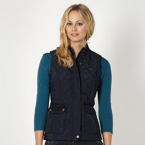 The Collection - Navy quilted gilet