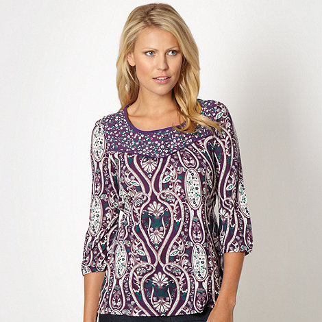 The Collection - Purple paisley top