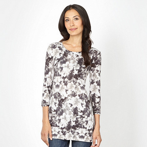 The Collection - Grey floral knit tunic