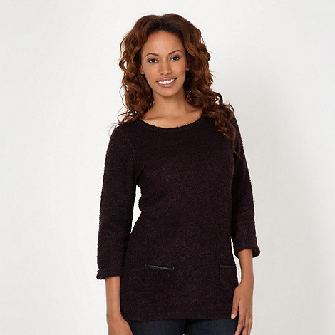 The Collection - Plum boucle knit top