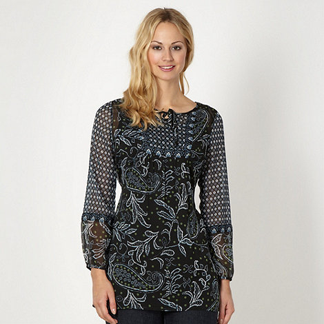 The Collection - Black paisley beaded tunic