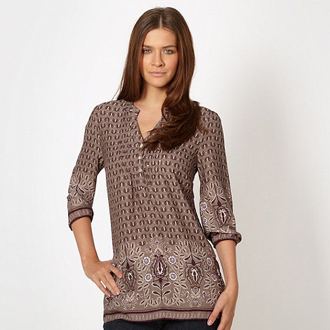The Collection - Fawn leaf patterned tunic