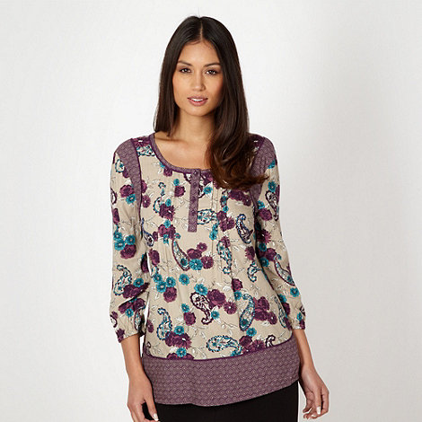 The Collection - Natural paisley floral top
