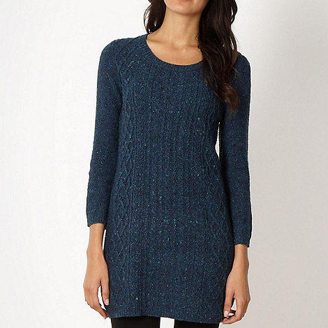 The Collection - Dark turquoise flecked jumper dress