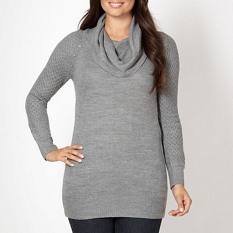 The Collection - Grey cowl neck jumper