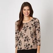 Fawn floral three quarter top