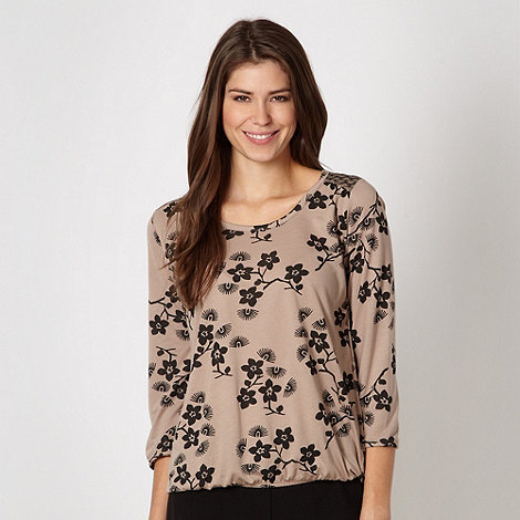 The Collection - Fawn floral three quarter top