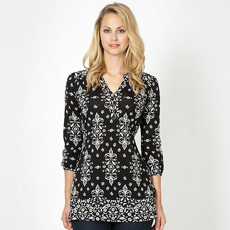The Collection - Black baroque mix and match tunic