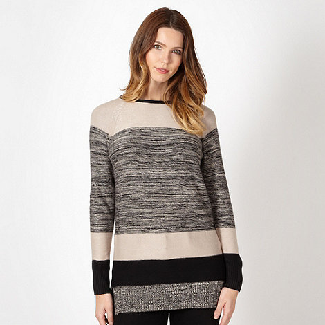 The Collection - Black space dye block knitted tunic