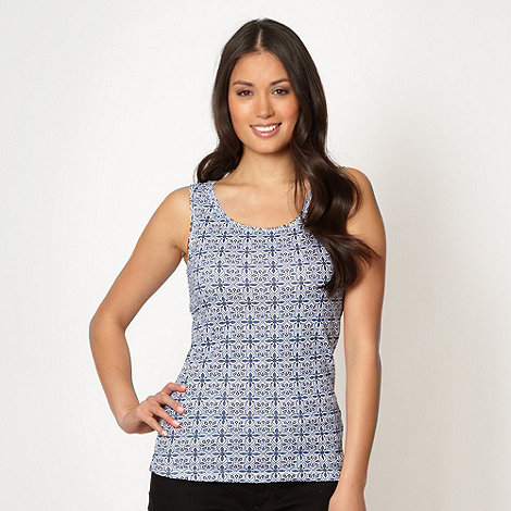 The Collection - Royal blue tile patterned vest
