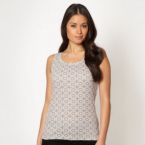 The Collection - Beige tile patterned vest