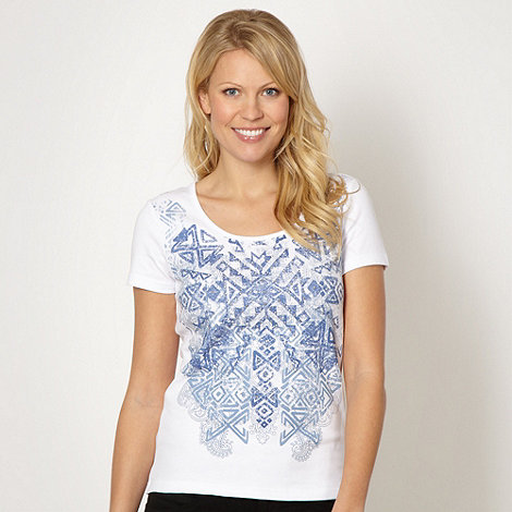 The Collection - Blue aztec t-shirt