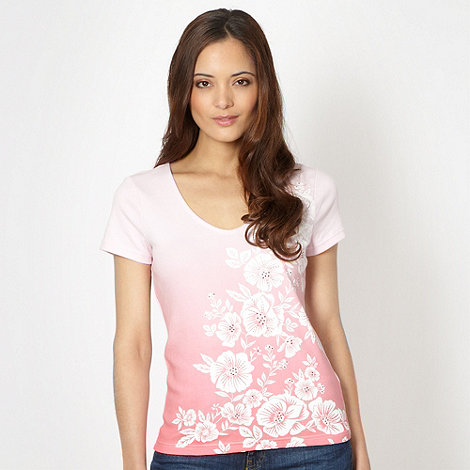 The Collection - Pink graduated floral t-shirt