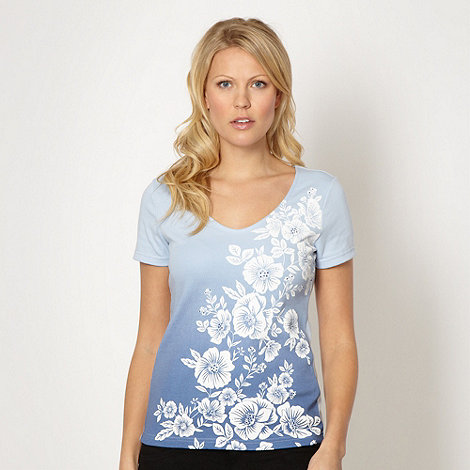 The Collection - Royal blue graduating floral t-shirt