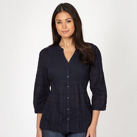 The Collection - Navy textured checked shirt
