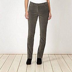 The Collection - Grey slim leg cord trousers