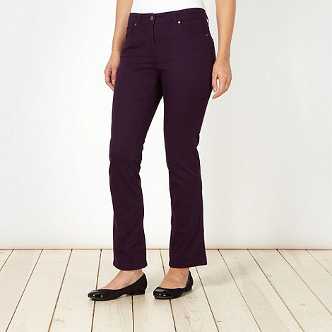 The Collection - Dark purple slim fit jeans