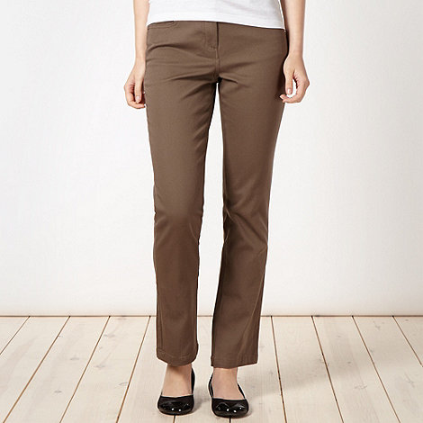 The Collection - Taupe slim leg twill jeans