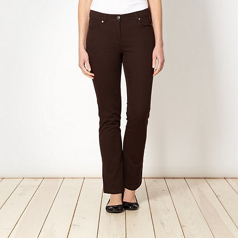 The Collection - Chocolate brown slim fit jeans