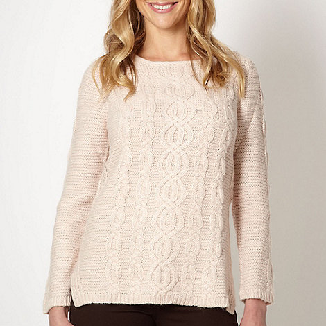 The Collection - Rose cable knitted jumper